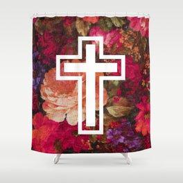 Flower Cross Shower Curtain