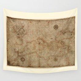 Portolan chart of the Mediterranean (circa 1500) Wall Tapestry