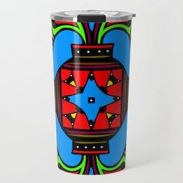 Four Leaf Clover Design Travel Mug