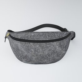 Black Cement and Grass Fanny Pack