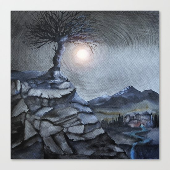 Track 31: The lone tree Canvas Print