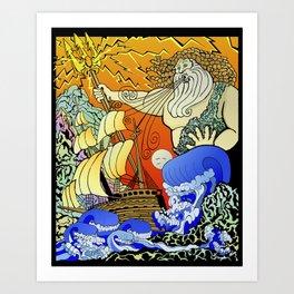 Tales of the Trident:Poseidon Art Print