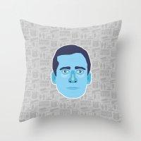 michael scott Throw Pillows featuring Michael Scott - The Office by Kuki