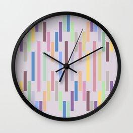 Vertical Stripes Pastel Color Wall Clock