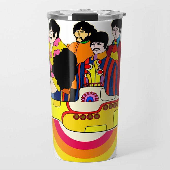 Yellow Submarine - Pop Art Travel Mug