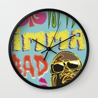 biggie smalls Wall Clocks featuring Biggie Smalls  by madebypinda