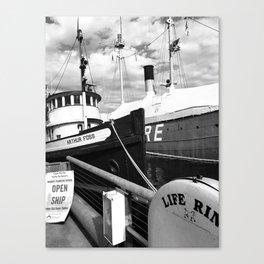 Docked, Seattle Wa Canvas Print