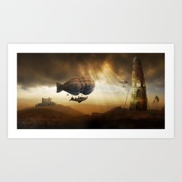 Endless Journey - steampunk artwork Art Print