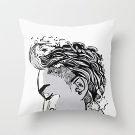 Waves on Swim (Art Only Version) Throw Pillow