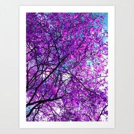 purple tree III Art Print