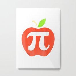 Apple Pi Math Lover Funny Teacher Humor Happy Pi Day Gift T Shirt Metal Print