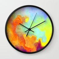 nirvana Wall Clocks featuring Nirvana by Ranadeep