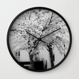 Candy Floss Explosion Monochrome Wall Clock