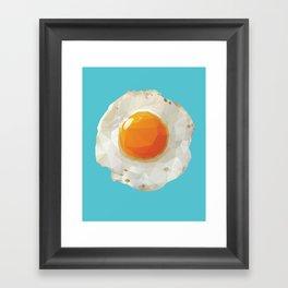 Fried Egg Polygon Art Framed Art Print