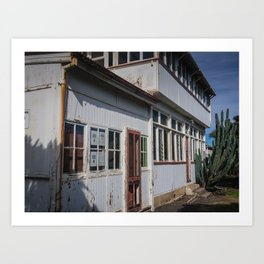 Weathered White Building Art Print