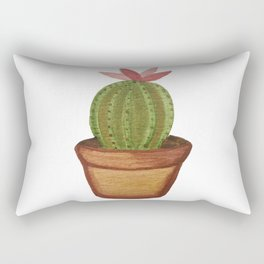 Bright Watercolor Succulent Rectangular Pillow