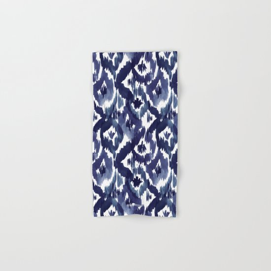 Indigo Blue Ikat Hand & Bath Towel