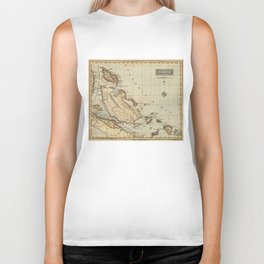 Vintage Map of The Bahamas (1823) Biker Tank