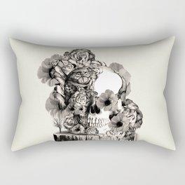 Life on a pedestal, floral skull Rectangular Pillow