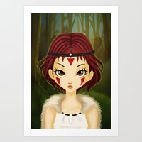 mononoke Art Prints featuring Mononoke by Paz Huichaman