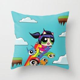 The Power Nyan Girl Throw Pillow