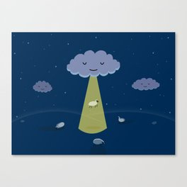 How Clouds Stay Fluffy Canvas Print