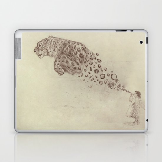 Bubbles the Snow Leopard Laptop & iPad Skin