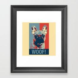 French Bulldog - Obama Hope Poster Style Framed Art Print
