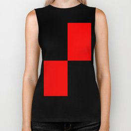 Big mosaic red black Biker Tank