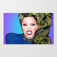 rupaul Canvas Prints featuring RUPAUL by Alli