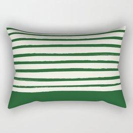 Holiday x Green Stripes Rectangular Pillow