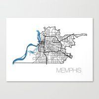 memphis Canvas Prints featuring Memphis by linnydrez