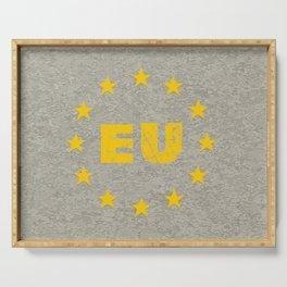 Concrete EU Flag Serving Tray