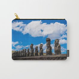 Moai Monolithics on Easter Island Carry-All Pouch