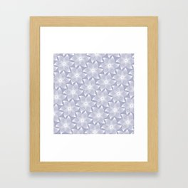 Pale flower pattern Framed Art Print