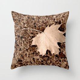 Fall Maple Leaf Throw Pillow