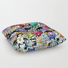 Bizarre Graffiti #1 Floor Pillow