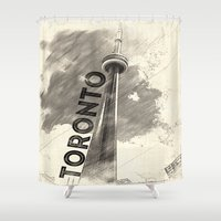 toronto Shower Curtains featuring Toronto  by Crystal