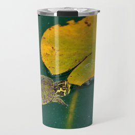 Baby Turtle And Lily Pad Travel Mug
