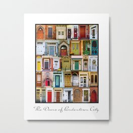 Doors of Bordentown City Metal Print