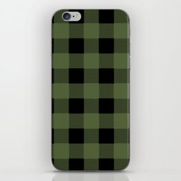 Green Buffalo Plaid iPhone Skin