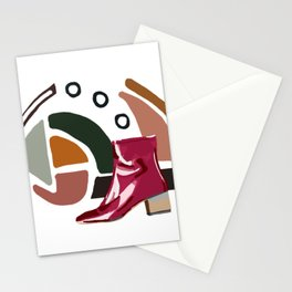 Pink Boot Stationery Cards