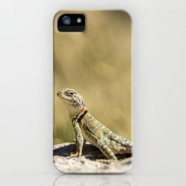 Lizard At Attention iPhone Case