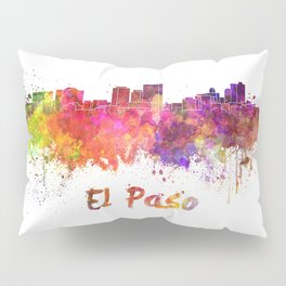 El Paso skyline in watercolor Pillow Sham
