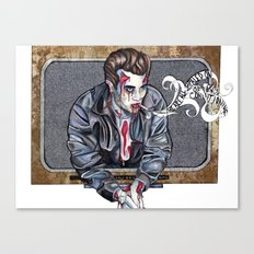 Zombie James Dean Canvas Print