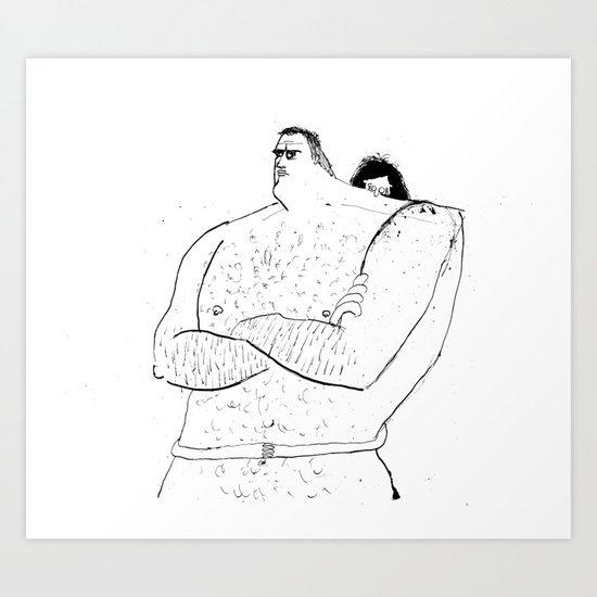 Naked Hugging Art Print