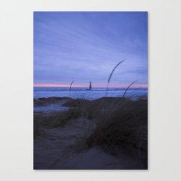Winter Sunset | Frankfort, Michigan | John Hill Photography Canvas Print