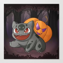 Halloweenasaur Canvas Print