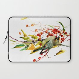 Waxwing in the Fall Laptop Sleeve