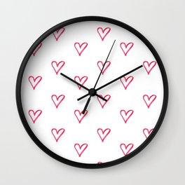 Hearts Ensemble Wall Clock